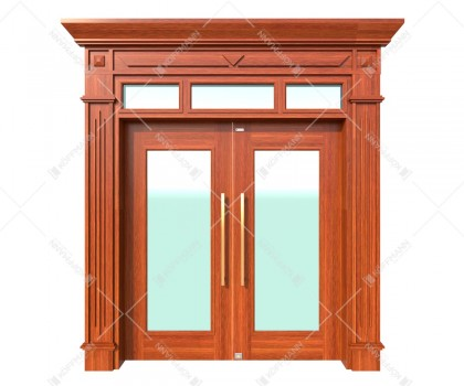 Cửa thép vân gỗ Luxury KLT-1VK
