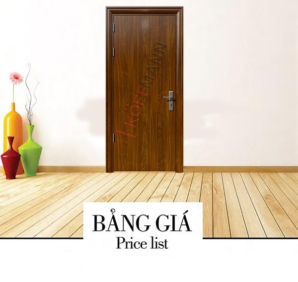 Bảng báo giá cửa thép vân gỗ chống cháy mới nhất